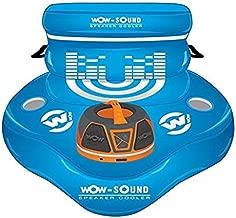 Wow World of Watersports Cooler, 30 Can Capacity Inflatable Cooler and Wow World of Watersports Yellow Waterproof Bluetooth Floating Speaker, 20 Hour Battery Bundle
