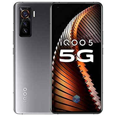 """Original IQOO 5 5G Mobile Phone 12G+128GB Snapdragon 865 120hz AMOLED 6.56"""" Screen Android 10 4500Mah 55W Super Charger Global ROM UFS 3.1 48.0MP Cellphone by-(Real Star Technology) (Black 12+128)"""