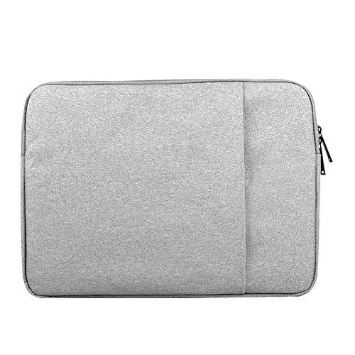 Notebook-Tasche Für MacBook Laptop Schutztasche Aus Robustem Nylon 2 Zubehörfächer Verstärkte Polsterwände Grau 15.6