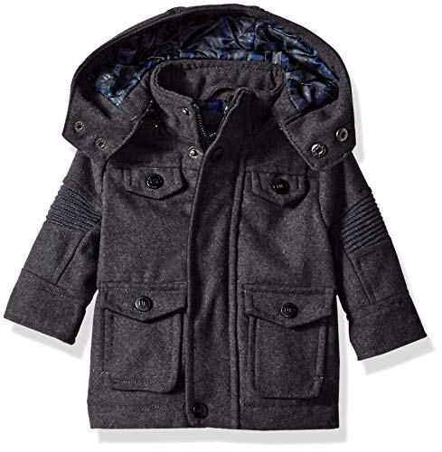 Urban Republic Baby Boys Wool Jackets, Charcoal, 3-6M