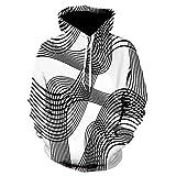 zlhcich 3D Digitaldruck Kapuzenpullover Mode Pullover Sweatshirt