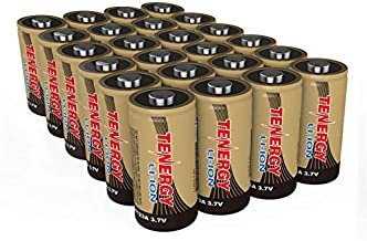 Tenergy CR123A Battery, 3.7V 650mAh Arlo Batteries Compatible with Arlo VMC3030 VMK3200 VMS3130 3230C 3430 3530 Wireless Security Cameras, 24 Pack