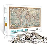 TTbaoz Rompecabezas de 1000 Piezas 38X26Cm Papel Puzzleearth Plane Said Map Rompecabezas para niños 1000 Piezas Educación Familiar