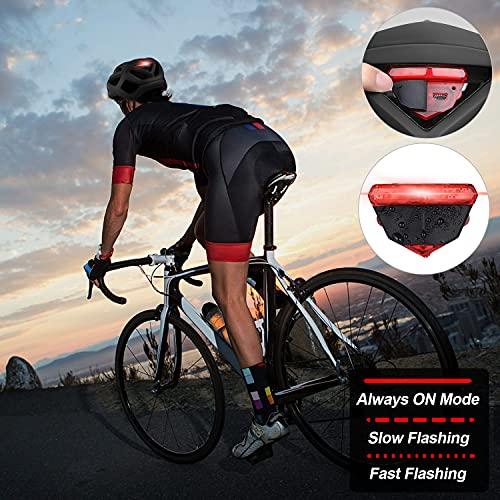 Zacro Adult Bike Helmet with Light - Adjustable Bike Helmets for Men Women with Replacement Pads &Detachable Visor, Lightweight Cycling Helmet for Commuter Urban Scooter MTB Mountain &Road Bikers