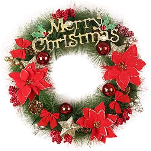 THj Guirnalda de Plantas Artificiales, decoración navideña Interior o Exterior, Colgar en Puertas, Paredes, escaleras y más, A, 40Cm