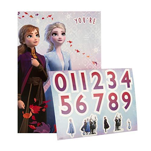 Hallmark Geburtstagskarte mit Zahlenaufkleber, Disneys