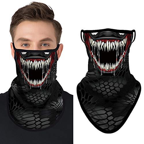 JOEYOUNG Bandana máscara facial bufanda cara cara rave pasamontañas polainas para el cuello paño lavable viento motocicleta máscara mujeres hombres