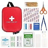 Maalr 100 Pezzi Kit di Pronto Soccorso, Scatola di Sopravvivenza Mini Professionale, Borsa di Emergenza Medica Impermeabile all'Aperto per Casa/Auto/Campeggio/Ufficio