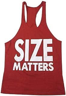 Size Matters Racer Back Y Back Bodybuilding, Stringer Mens Gym Singlet