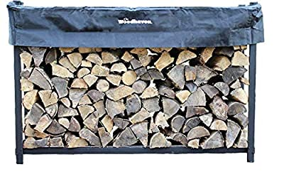 Woodhaven 6ft Firewood Rack (Black)
