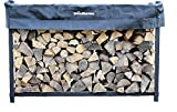 Woodhaven 6ft Firewood Rack (Black)...