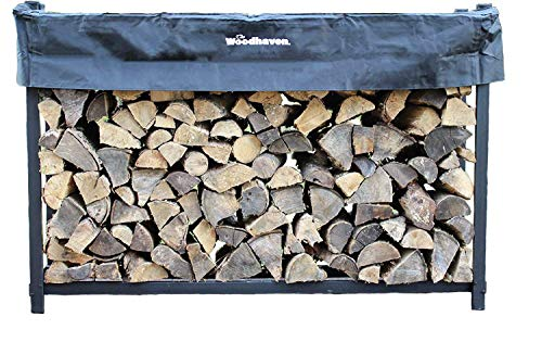 Buy Woodhaven 6ft Firewood Rack (Black)
