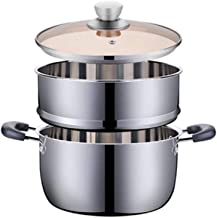 ZYSWP Small Steamer Stainless Steel Thickened Household Non-stick Cooker Induction Cooker Gas Binaural Stew Pot Soup Pot S...