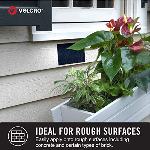 VELCRO Brand Industrial Strength Fasteners | Extreme Outdoor Weather Conditions | Professional Grade Heavy Duty Strength Holds Up To 15 lbs on Rough surfaces | 4 x 1 inch Strips, 5 Sets, Black Photo #5