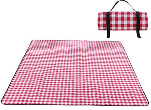 Picknick-Matte, 200 x 300 cm, maschinenwaschbar, feuchtigkeitsbeständig, wasserdicht, strapazierfähig, tragbar, Gittermuster für Outdoor-Zelte, Picknick-Matte, Regenbogen-Gitter, 200cm 300cm