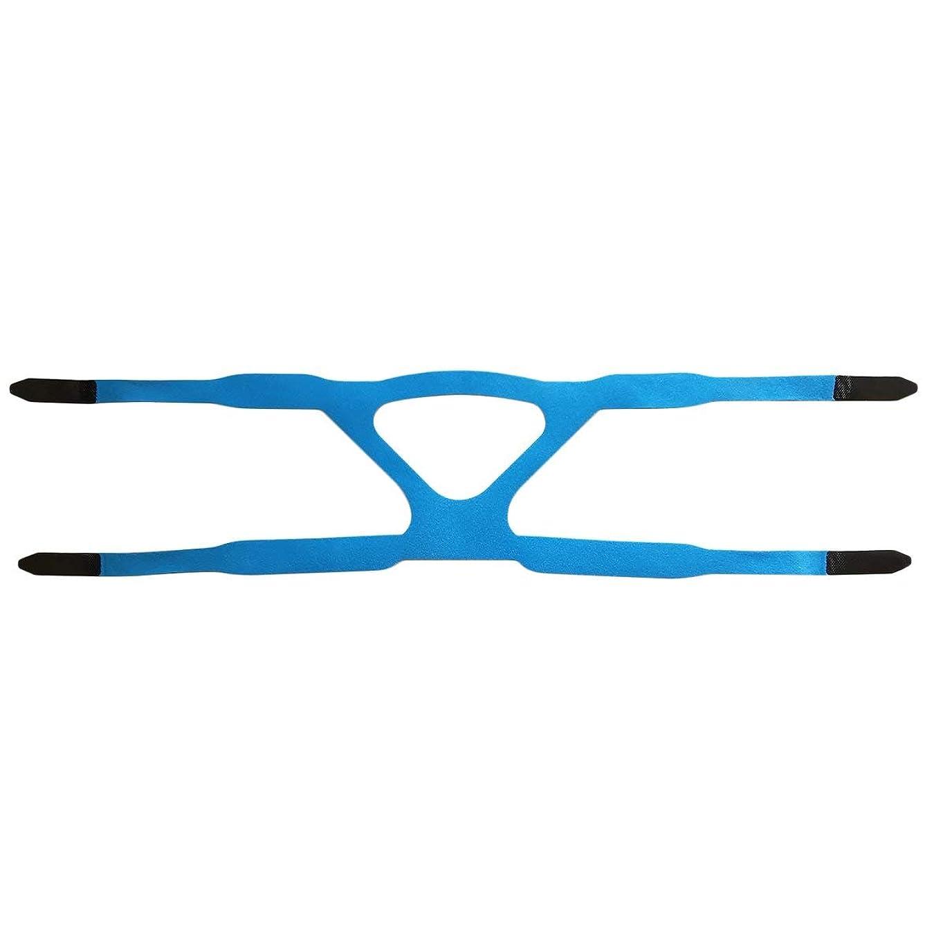 巨大専門用語荷物ユニバーサルヘッドギアコンフォートジェルフルマスク安全な環境での取り替えCPAPヘッドバンドなしPHILPSに適した - ブルー&グレー