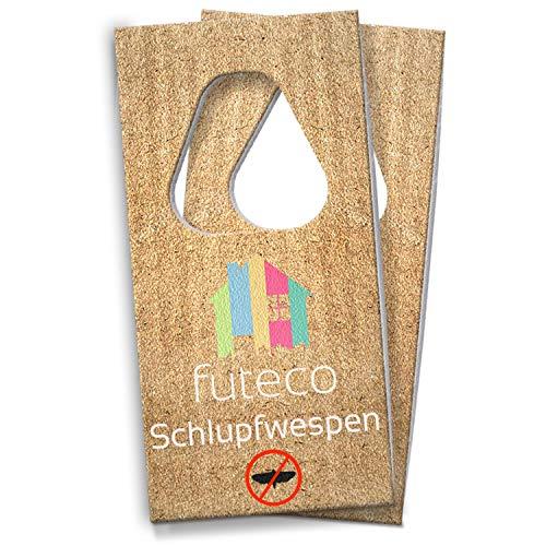 Futeco® – Schlupfwespen gegen Lebensmittelmotten (2 Karten – 3 Lieferungen) – 100% umweltfreundlich – Perfekter Lieferrhythmus – Made in Germany
