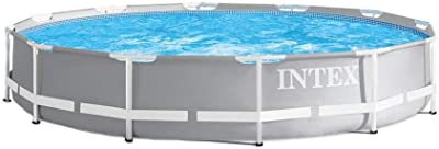 Intex 26710EH 12ft x 30in Prism Metal Frame Outdoor Above Ground Swimming Pool with Easy Set-Up and fits up to 6 People (Filter Pump Not Included)