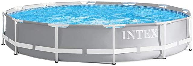 Intex 26710EH 12ft x 30in Prism Metal Frame Above Ground Swimming Pool with Easy Set-Up and fits up to 6 People (Filter Pump Not Incuded)