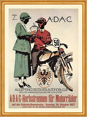 Kunstdruck ADAC Herbstrennen für...