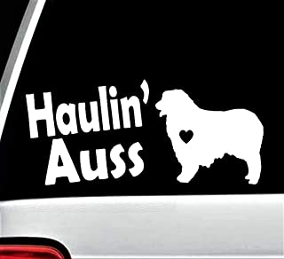 Australian Shepherd Haulin Auss Aussie Dog Decal Sticker BGA1198