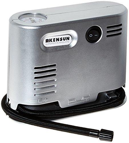 Kensun Portable Travel High Pressure Air Compressor/Inflator (High Pressure Air Compressor, Silver)