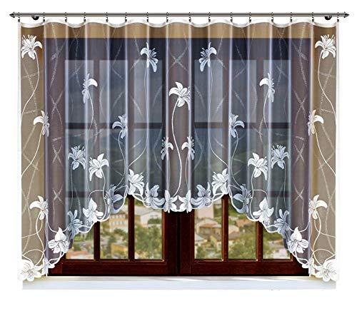 HAFT® Gardine; Store; Vorhang transparent, elegant weiß, Kräuselband 160x300 cm