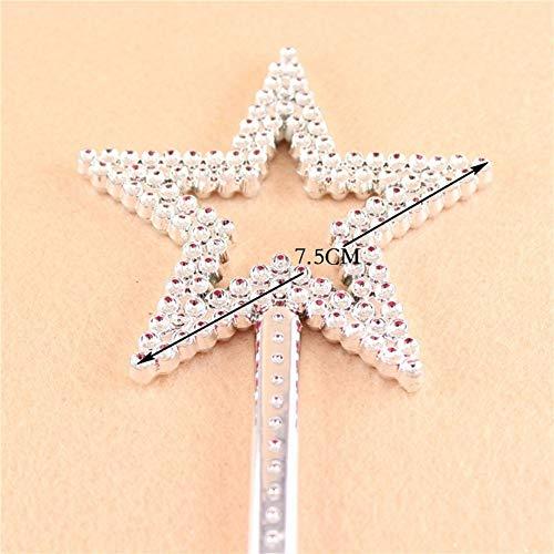 Plata Hilai 1PC Mini Fairy Partido Handhelds Varita de la Estrella de Lentejuelas favores para los ni/ños de la Princesa cumplea/ños de Vestuario