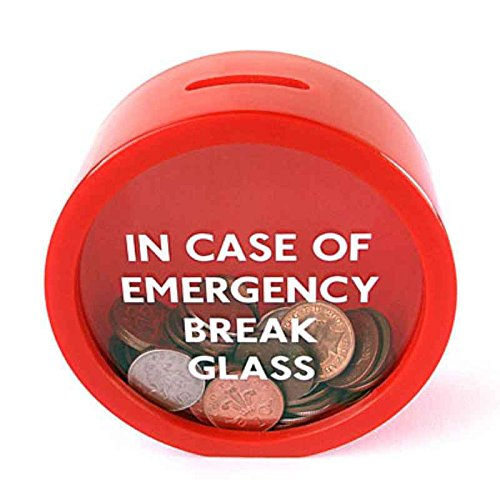 censhaorme Novelty Safe Red MoneyBox Saving Bank Emergency Coin Smash Piggy Bank
