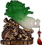 BNHY Riqueza Estatua símbolo de Fengshui Col Adornos de Resina Auspicioso Jade Crafts for Familiar Sala de Estar TV Vino abren los Regalos de los despachos de casa Decoraciones Lucky Estatuilla 1124