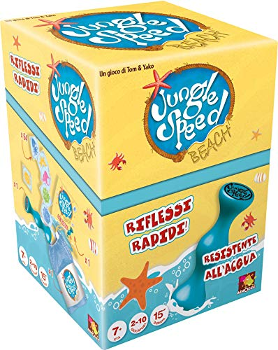 Asmodee Italia- Jungle Speed Beach Version Imperméable, Coul