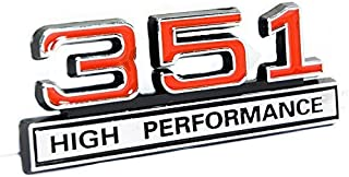 351 5.8 Liter Engine High Performance Emblem in Chrome & Red - 4