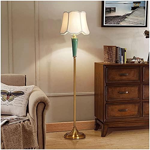 Lámparas de pie de luz de Piso para Sala de Estar, lámpara de pie LED con Pantalla de Tela, lámparas de pie Altas Vintage para dormitorios, Oficina, Decor del hogar (Interruptor de pie) Lámpara d