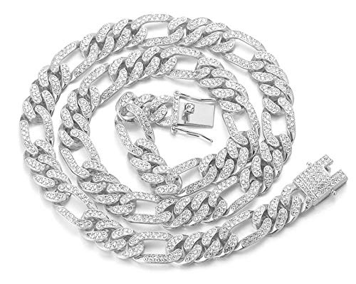 Halukakah Gold Chain for Men Iced out,12MM Men's Cuban Link Chain Miami...
