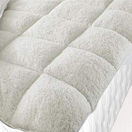 Fine Linens Luxury Super Soft Warm Teddy Fleece Mattress Topper Enhancer Bedding 3 (King Size), Polyester