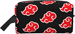 حقيبة مكياج كبيرة للسفر حقيبة مستحضرات التجميل منظم أدوات الزينة حقيبة سفر إكسسوارات للنساء والفتيات, ريد كلاود, 10*4.9*6....