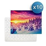 Sublimet Sublimation Solutions Pack de 10 Puzzles de 280 Piezas (40 x 30 cm) para la sublimación | Ideales para ser Impresos Mediante la sublimación
