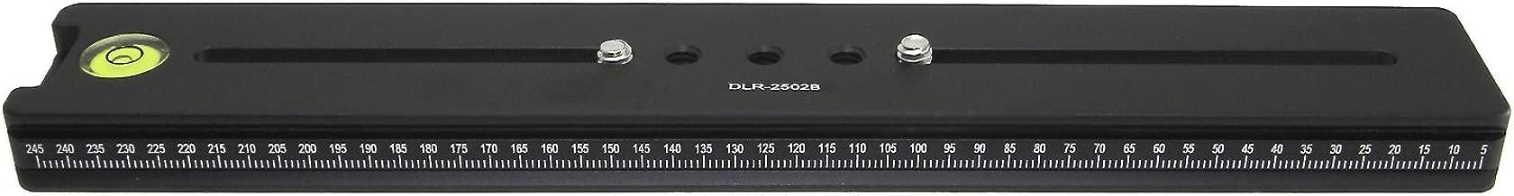 DLR-2502B Desmond 250mm Double Macro Rail Arca-Swiss Compatible with Bubble Level