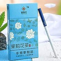禁煙グッズ、中国茶 健康茶 ー プエル茶 牡丹茶 ジャスミン茶 ロンジン茶 紅茶 緑茶 ニコチン0% 茶タバコ (ジャスミン9,3パック)