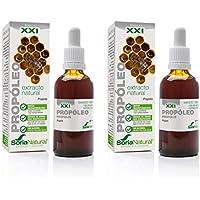 Soria Natural – PROPOLEO S. XXI – Complemento alimenticio – natural - 50 ml – Extracto concentrado de Propoleo (PACK2)