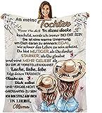 Kuscheldecke Flauschige Personalisierte Decke Geschenke,an Meine Tochter von Mutter Decke,Ermutigung & Liebe von Mama zu ihrer Tochter,für Sofa Reisen