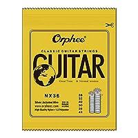 Murakush クラシックギター弦 ギターストリング 6個 ナイロン糸 銀メッキワイヤ弦 ナノコーティング 古典的 NX-36
