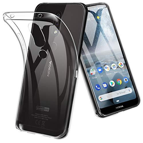 TOPACE Hülle für Nokia 4.2, Ultra Schlank R&umschutz Softschale Silikon TPU Stoßfest Handyhülle Schutzhülle Anti-Fingerabdruck Shock Absorption Tasche Cover für Nokia 4.2 (Transparent)