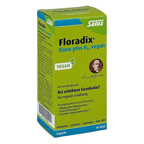 Floradix Eisen plus B12 vegan, 40 St. Kapseln