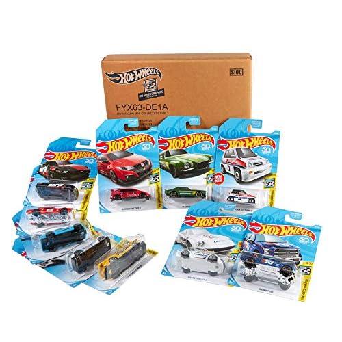Hot Wheels Assortimento di 10 veicoli, Giocattolo per Bambini 3+ Anni, FYX63