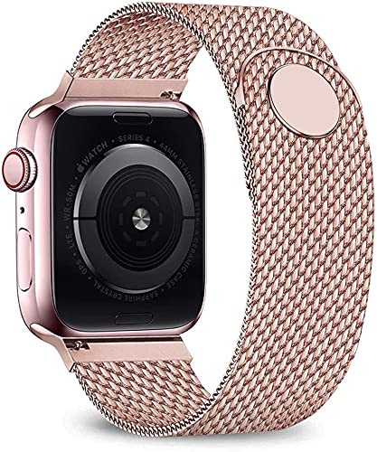 Voshion Correa para Apple Watch Band 44mm 40mm iwatch band 38mm 42mm Metal correa pulsera de acero inoxidable para iWatch 6 5 4 3 2 SE (42 o 44 mm, serie 4 oro)