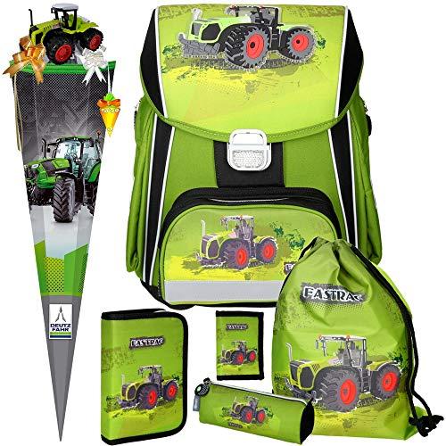 Spirit Green Tractor Power - Traktor - 3D-Leicht-Schulranzen-Set 7teilig mit SCHULTÜTE und SCHULTÜTENSCHMUCK-Set boi