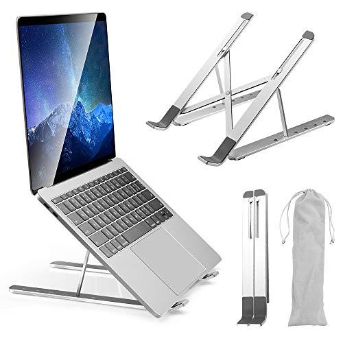 SYOSIN Laptop Ständer, Aluminium Notebook Ständer, Verstellbare Universale Laptop Halterung, belüftet, verstellbar,für MacBook Air Pro, 10-15,6 Zoll Laptops Tablet iPad
