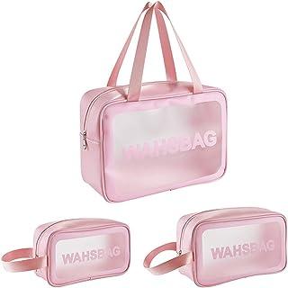 Tingz 3-in-1 Bolsa de Aseo Transparente Neceser,Bolsa de Maquillaje Cosméticos Organizador Impermeable de Viaje portátiles...