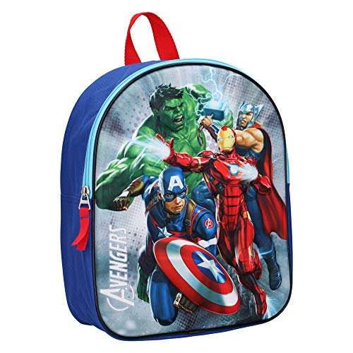 Marvel The Avengers Kinderrucksack 3D - Hulk, Thor, Iron Man und Captain America - Blau
